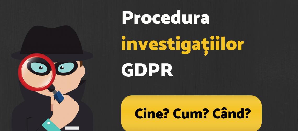 investigații GDPR