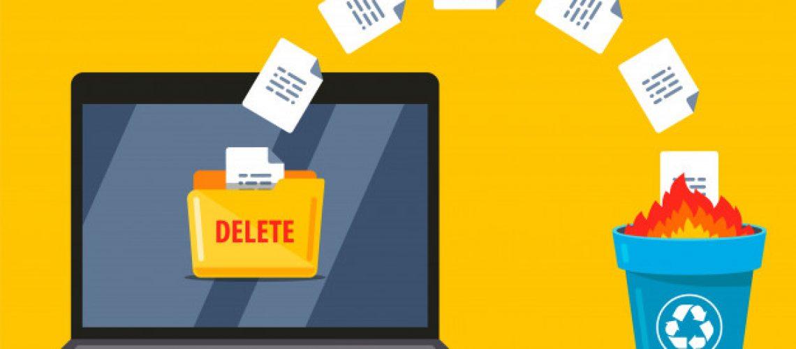 permanently-deleting-documents-from-laptop-trash-data-burning-flat-illustration_124715-431